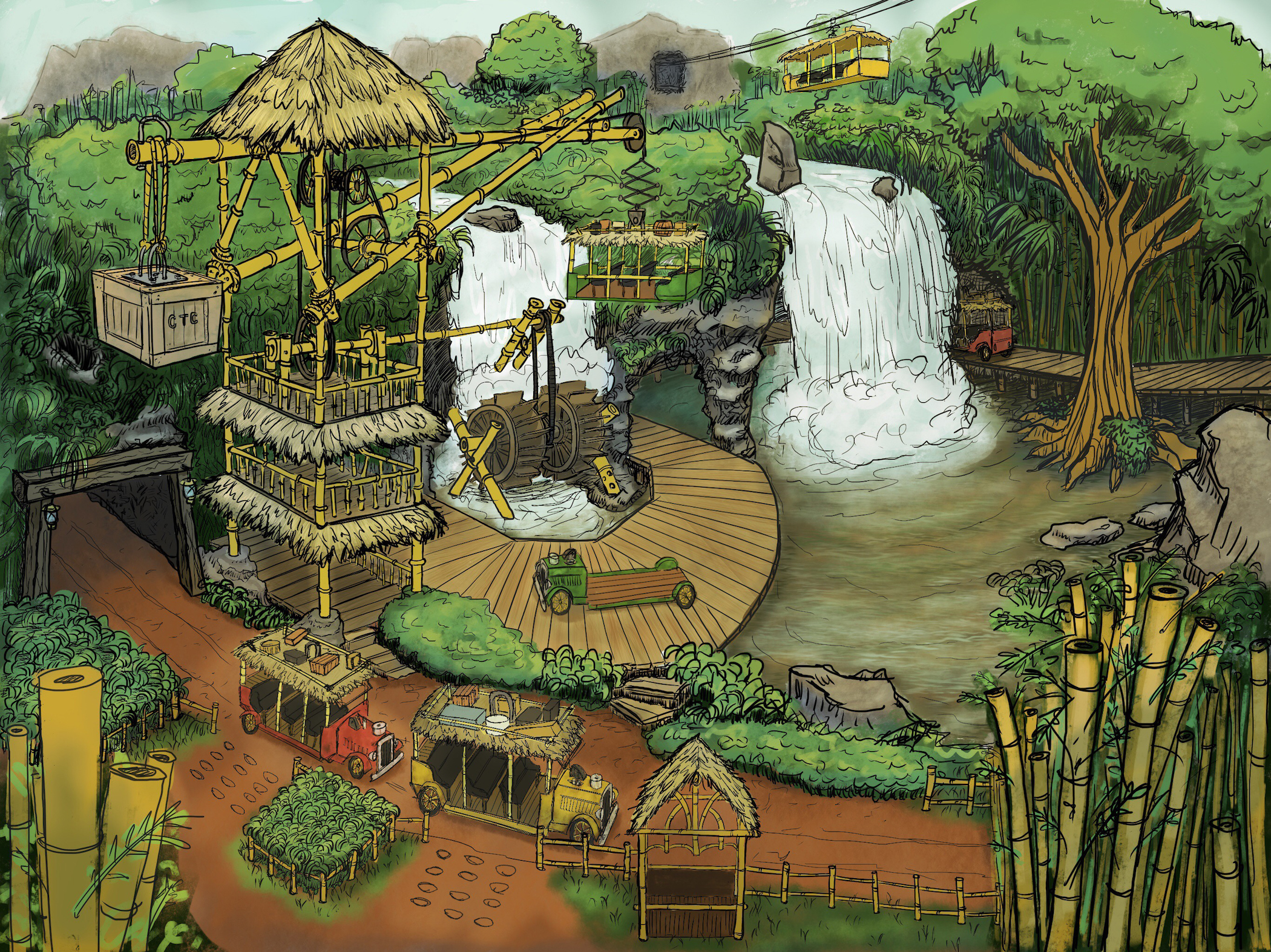 Tarzan Ride Concept: Load Area